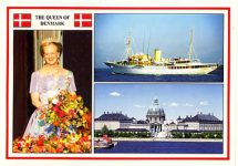 (219) Queen Margrethe/Royal Palace & yacht
