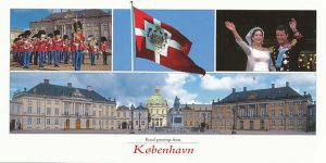 (346) Wedding Mary & Frederik/Amalienborg Palace (large card 21 x 10,5 cm)