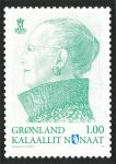 (511) Greenland stamp card Queen Margrethe, 2012