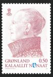 (512) Greenland stamp card Queen Margrethe, 2012