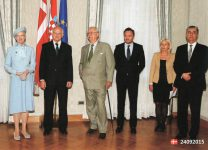 (567) State visit to Croatia 2014 - Margrethe & Henrik (18 x 13 cm)