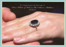 (1137) To Commemorate the Marriage of William & Catherine - the engagement ring