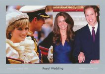 (1155) Royal Wedding - Charles & Diana/ William and Kate (17 x 12 cm)