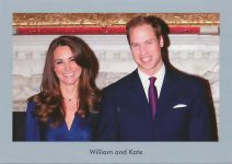 (1154) William and Kate (17 x 12 cm)