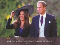 (1238) Catherine & William (large postcard 22 x 16,5 cm)