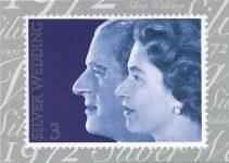 (1364) Stampcard 1972 - Elizabeth & Philip