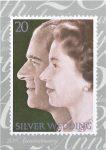 (1366) Stampcard 1972 - Elizabeth & Philip
