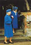 (1394) Queen Elizabeth and her mother, Sandringham 1998