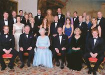 (545) Group Royal on occasion of Diamond Wedding Anniversary, 2007 (small card 15 x 10,5 cm)