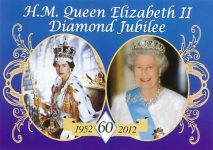 (1608) Queen Elizabeth Diamond Jubilee (15 x 10,5 cm)