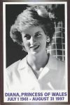 (1653) Memorial card prinsess Diana, 1997
