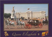 (1654) Queen Elizabeth/Buckingham Palace (17 x 12 cm)