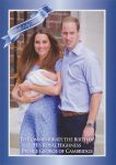 (1680) Newborn Prince George with parents, July 2013 (17 x 12 cm)