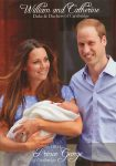(1691) Newborn Prince George with parents, July 2013 (17 x 12 cm)