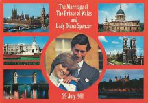 (1699) Postcard on the occasion of the wedding of Diana & Charles, 1981