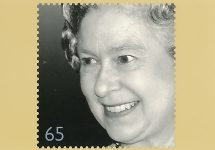 (1722) Stamp card on occasion of the Queen's Golden Jubilee, 2002