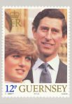 (1729) Stamp card from Guernsey on occasion of wedding Diana & Charles, 1981