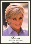 (1747) Memorial card Princess Diana (17 x 12 cm)