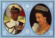 (297) Elizabeth & Philip (17 x 12 cm)
