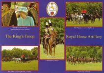 (484) Queen Elizabeth inspects The King's Troop (17 x 12 cm)