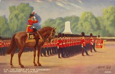 (553) Trooping the Colour (old postcard)
