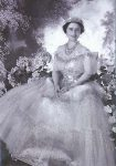 (881) Elizabeth the Queen Mother, 1939 (double card 18 x 12,5 cm)