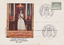 (932) Queen Elizabeth - German maxicard 1965