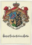 (155) Coat of arms Saxe Coburg & Gotha (modern postcard)