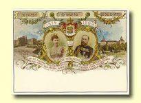 (21) Alfred & Marie of Saxe-Coburg-Gotha, 1899 (modern postcard)