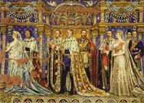 (30) German Emperior Family - Mosaik from the Kaiser Wilhelm Memorial Church (modern postcard 17 x 12 cm)