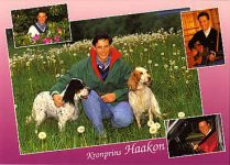 (128) Crown Prince Haakon, 1991 (15 x 10 cm)