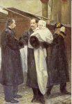 (148) Haakon with little Olav, painting 1905 (modern card 15 x 10 cm)