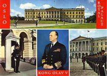 (158) King Olav/The Palace (15 x 10 cm)