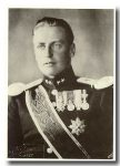 (200) Crown Prince Olav (modern card from 1991 - 17 x 12 cm)