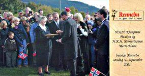 (37) Haakon & Mette-Marit, 2001 (20 x 10,5 cm)
