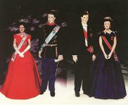 (246) Dolls portraiting Märtha Louise & Haakon of Norway, Alexandra & Joachim of Denmark