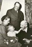 (267) Haakon VII, Olav V, Ragnhild & her son Haakon, 1955