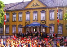 (224) Royal gathering in Trondheim with European Royal guests, 1997 (21 x 15 cm)