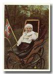 (117) Crown Prince Olav (modern card 15 x 10 cm)