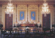 (329) Daily dining room, Royal Palace of Oslo (18 x 12,5 cm)