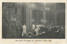 (372) Maud & Haakon in Parliament, 1905