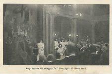 (372) Maud & Haakon in Parliament, 1905