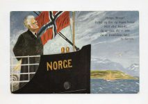 (458) Modern card from Norwegian liberation year 1905 (21 x 15 cm - blank on the reverse side)