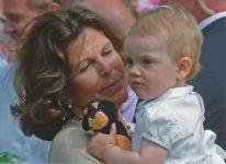 (1074) Queen Silvia with Estelle, Solliden July 2013