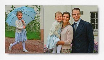 (1120) Victoria, Daniel and Estelle, Solliden 2015 (18 x 10,5 cm)