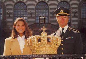 (500) Carl Gustaf & Victoria (17 x 12 cm)