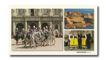 (459) The Royal Family (large postcard 24 x 13,5 cm)
