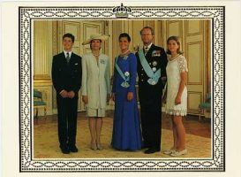 (574) The Royal Family, 1995 (double greeting card 19,5 x 14 cm when folded)