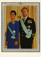 (575) Carl Gustaf and Victoria, 1995 (double greeting card 19,5 x 14 cm when folded)