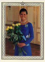 (576) Crown Princess Victoria, 1995 (double greeting card 19,5 x 14 cm when folded)